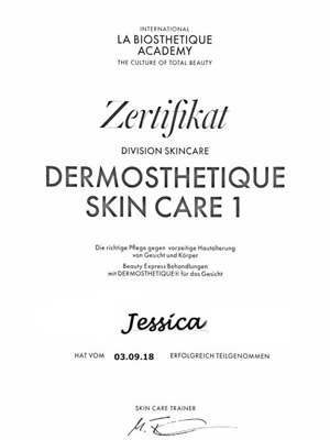 La Biosthetique Skin Care I Seminar | Jessica September 2018